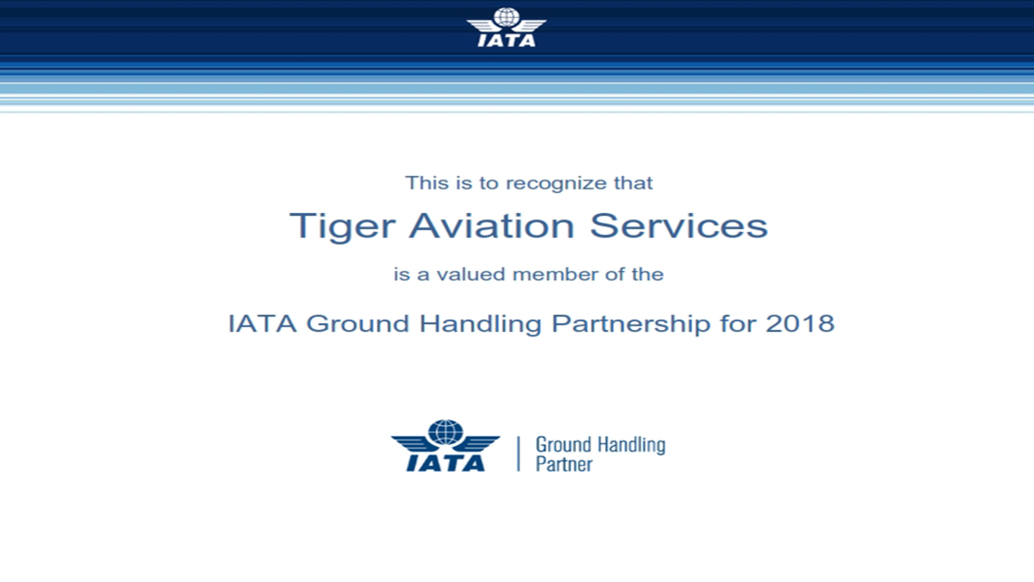TAS remains IATA Certified Ground Handling